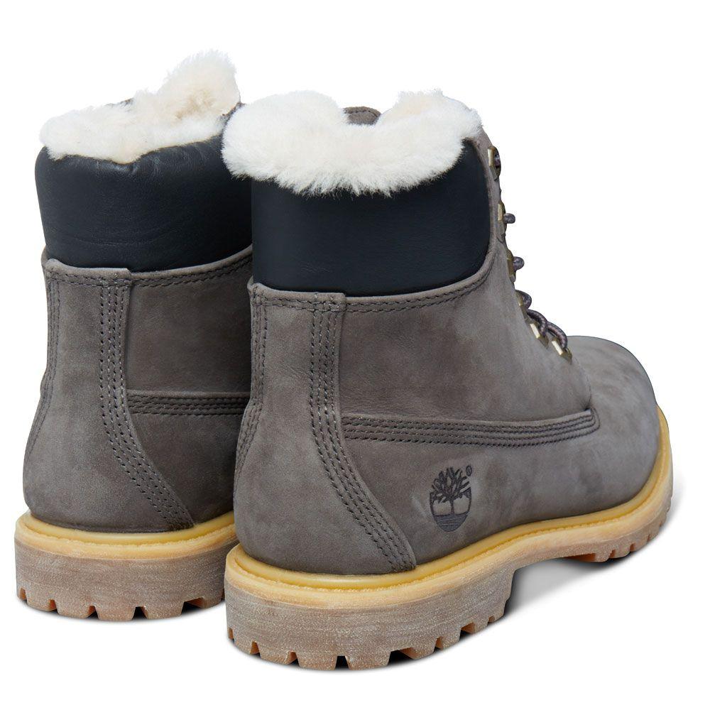 6 Inch Shearling Boots für Damen in Dunkelgrau