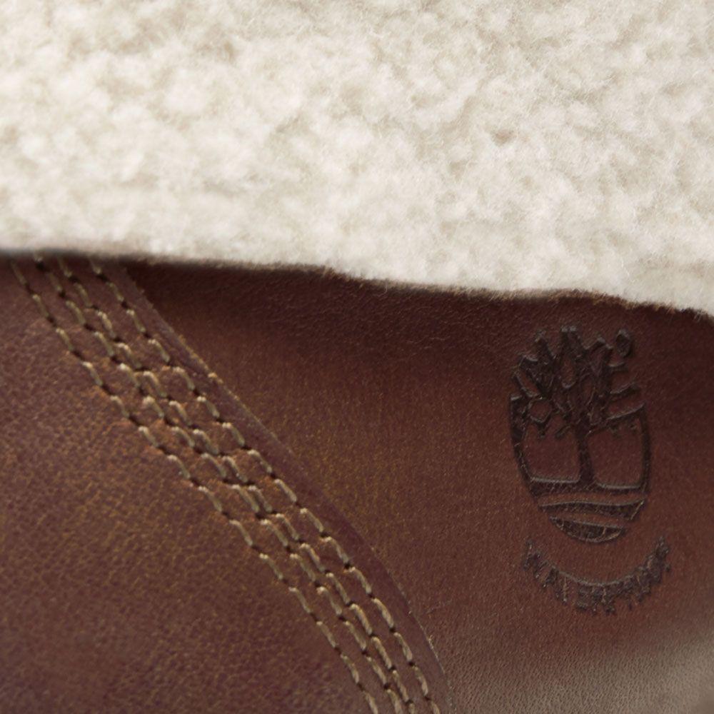 Timberland Authentics Teddy Fleece Stiefel Damen dunkelbraun