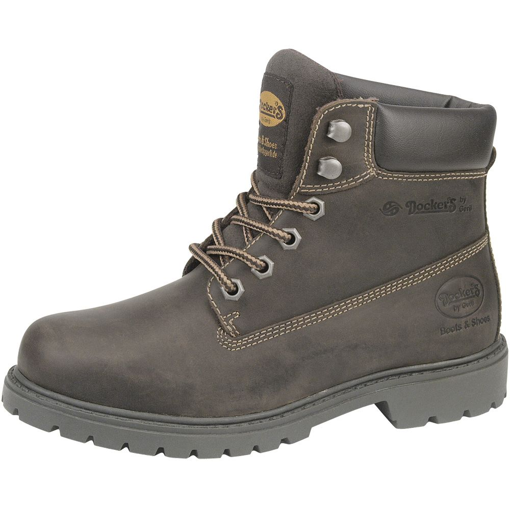 Dockers Crazy Horse Leather Boots Women brown at Sport