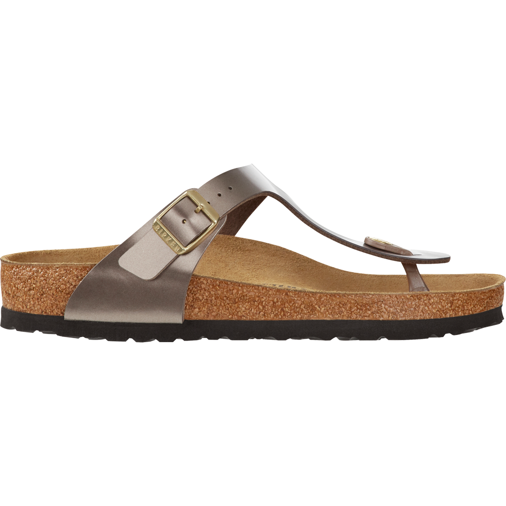 e0eb21c972b8 Birkenstock - Gizeh Birko-Flor Women electric metallic taupe at ...