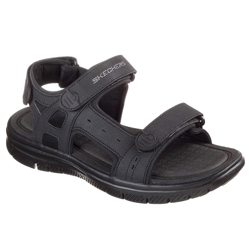 skechers sandale heren schwarz