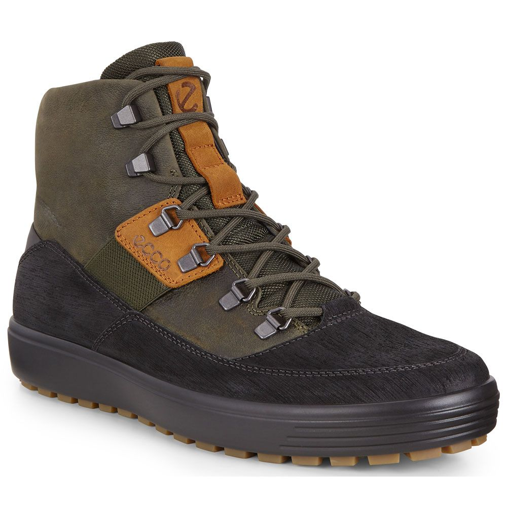 Soft 7 Tred Boot Men black deep forest amber