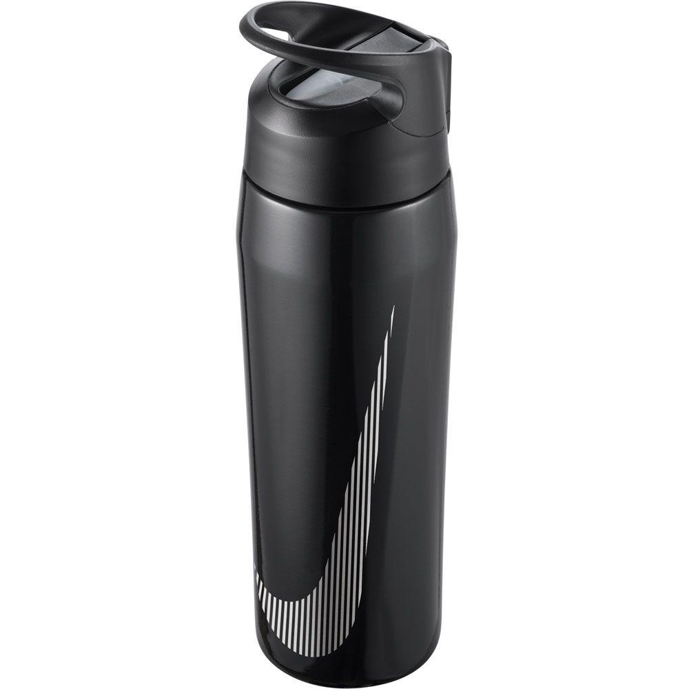 HyperCharge Straw Wasserflasche 709ml metallic black anthracite