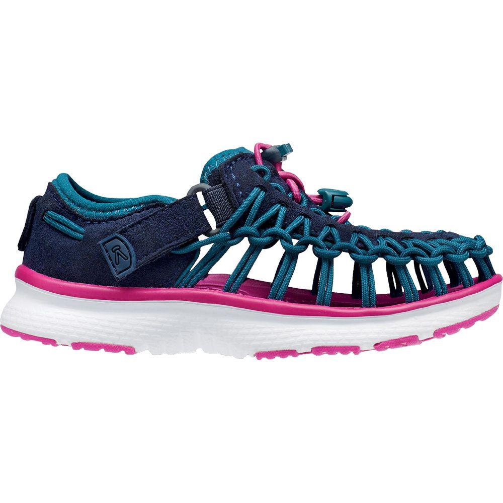 34b1f9bc5816 Keen - Uneek 02 Trekking Shoe Kids blue-pink at Sport Bittl Shop