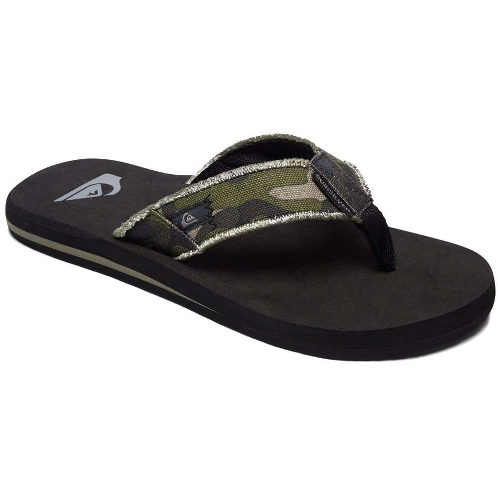 8c94496c545564 Quiksilver - Monkey Abyss Flip Flops Kids green brown blue at Sport ...