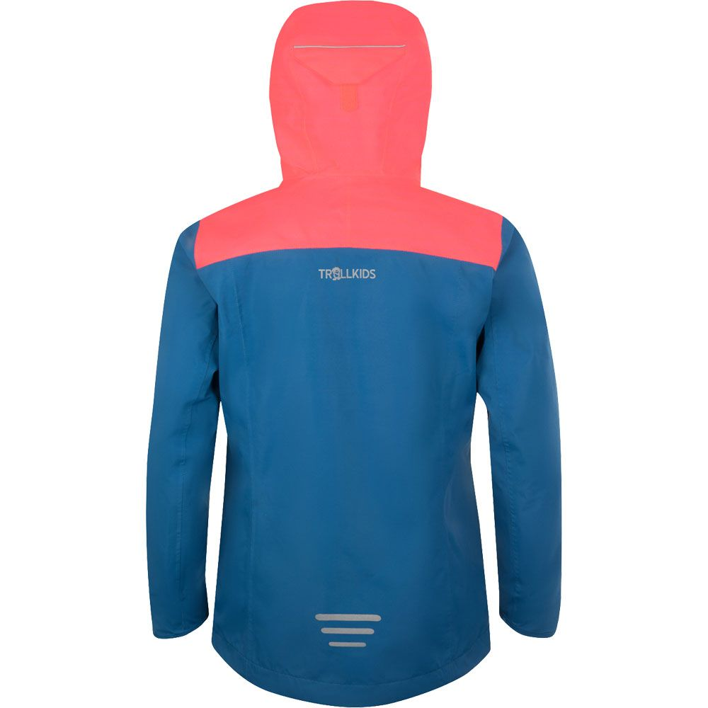 Bergen Rain Jacket Girls midnight blue coral