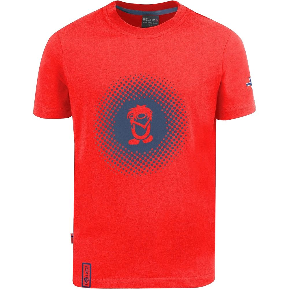 Pointillism T-Shirt Kinder rot navy