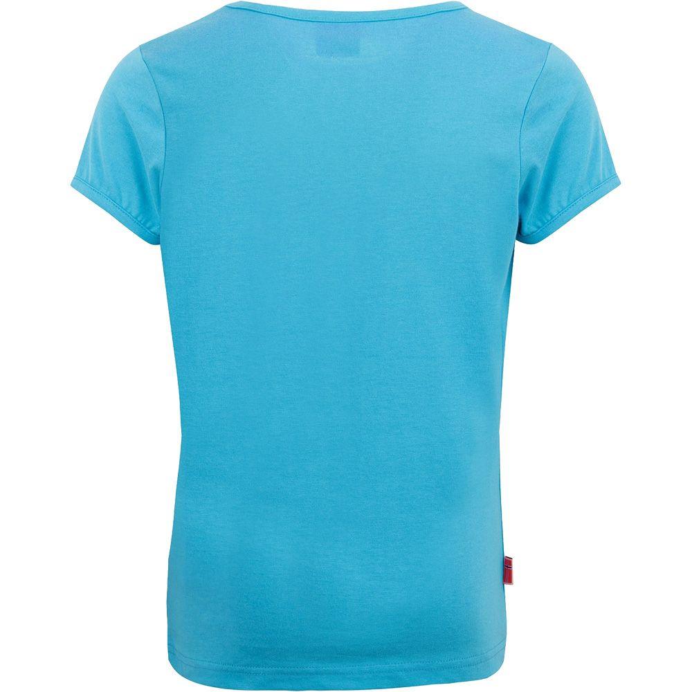 Logo T-Shirt Mädchen light blue pink