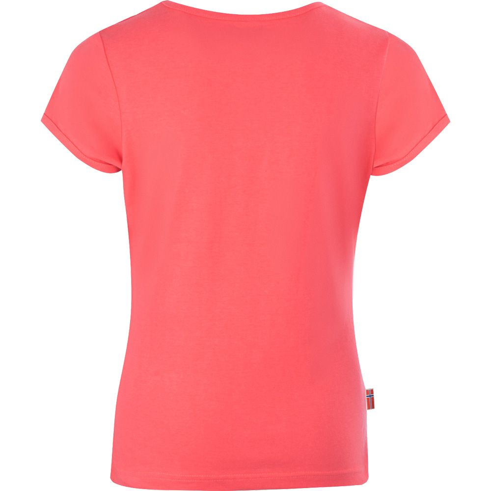 Logo T-Shirt Mädchen coral blue