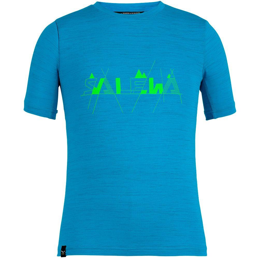 Graphic Dry T-Shirt Kids blue danube melange