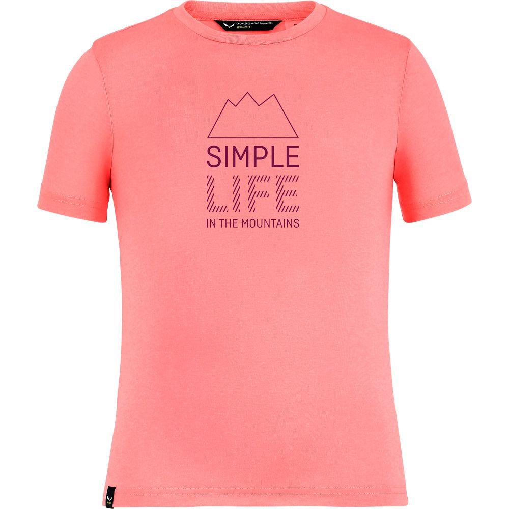 Simple Life Dri-Rel T-Shirt Kinder shell pink melange