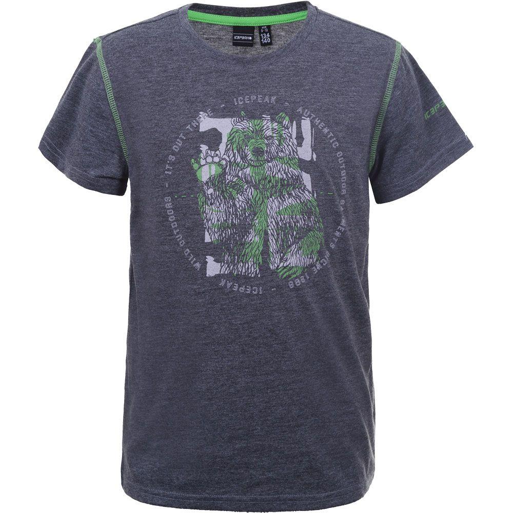 Keene T-Shirt Jungen lead grey