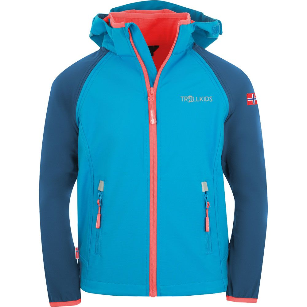 Rondane XT Zip Off Softshelljacke Kids midnight blue cerulean coral
