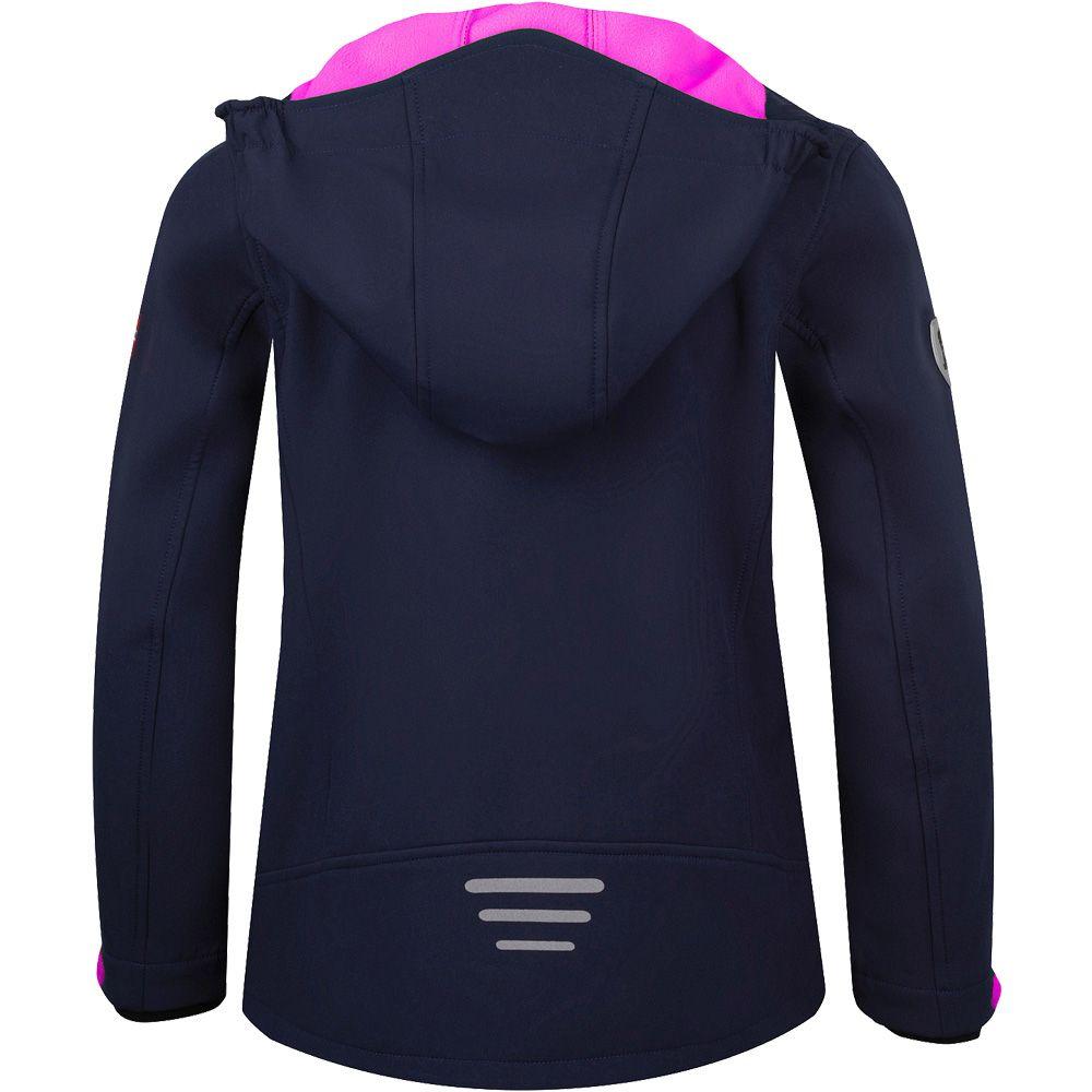 Trollfjord Softshell Jacket Girls navy magenta
