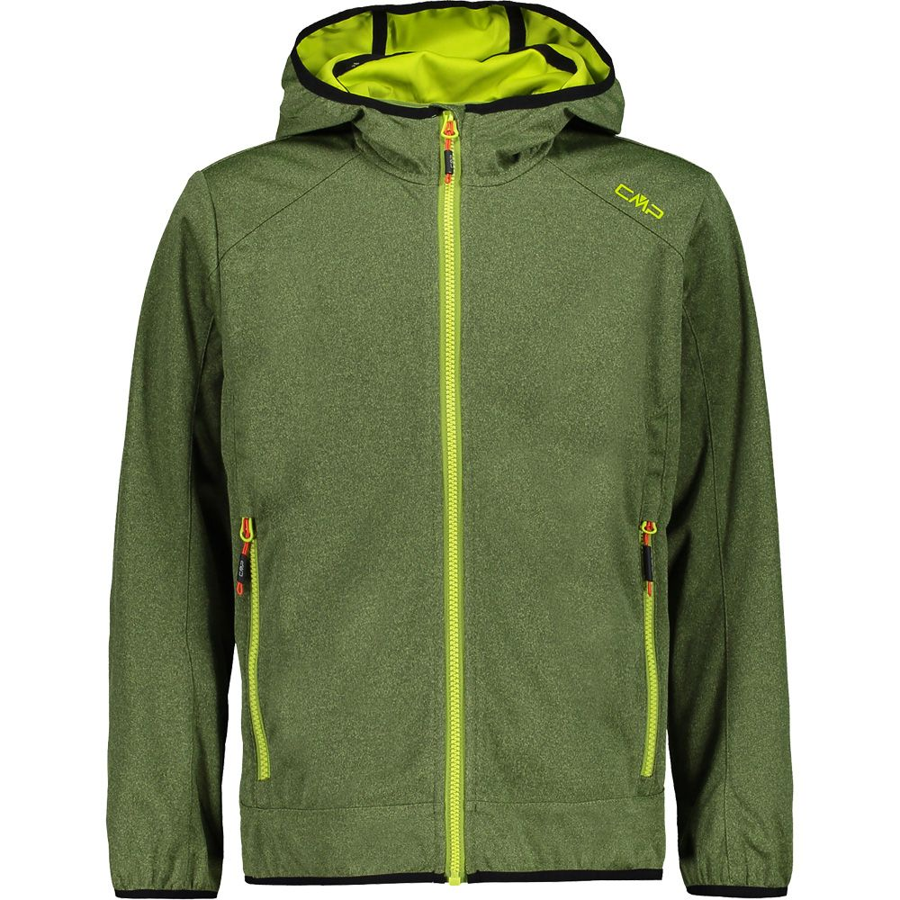 Light Softshell Jacket Kids green melange