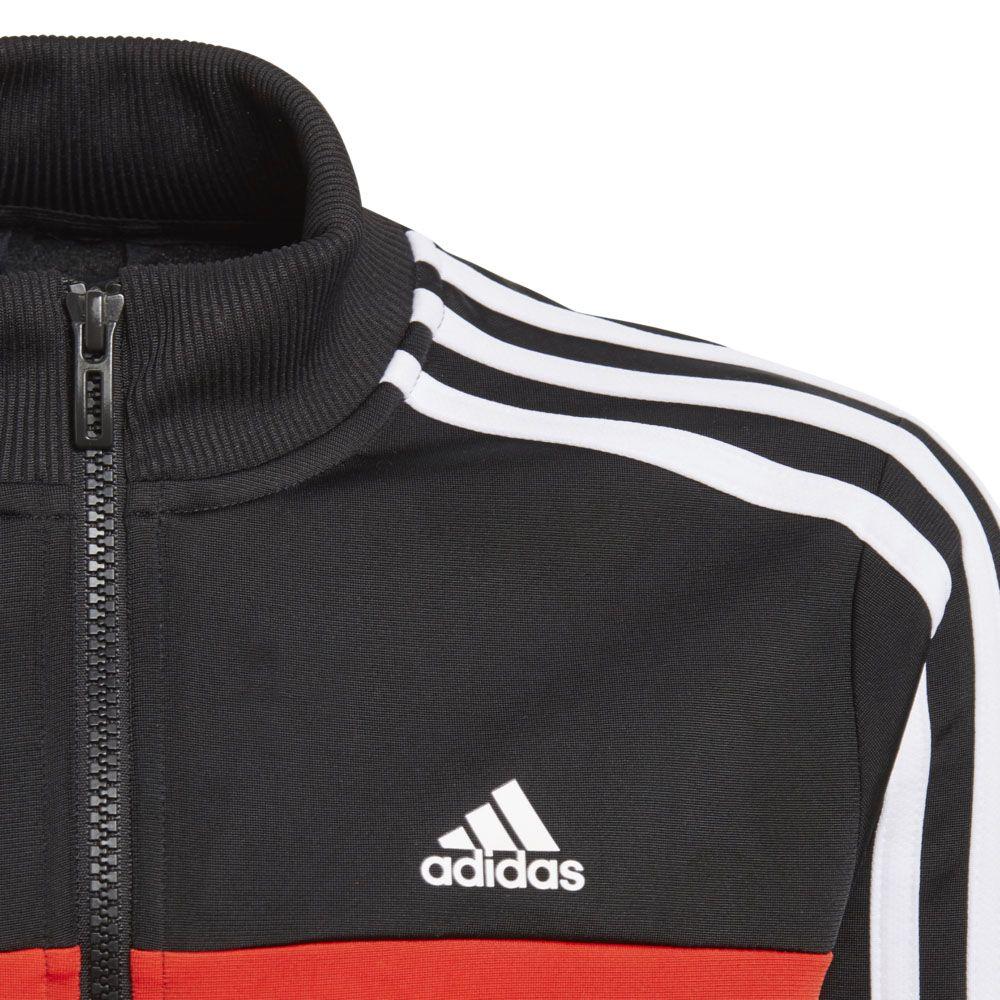 adidas Tiberio Trainingsanzug Jungen black active red white