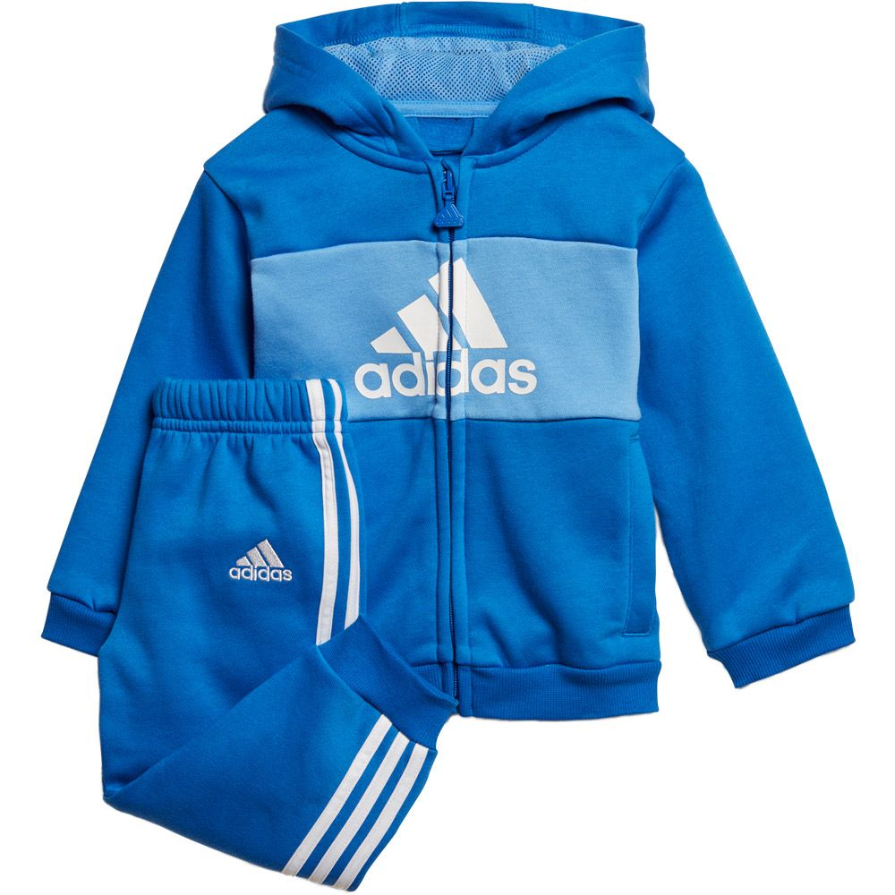 new concept uk store the cheapest adidas - Logo Hooded Baby Jogginganzug blue real blue white