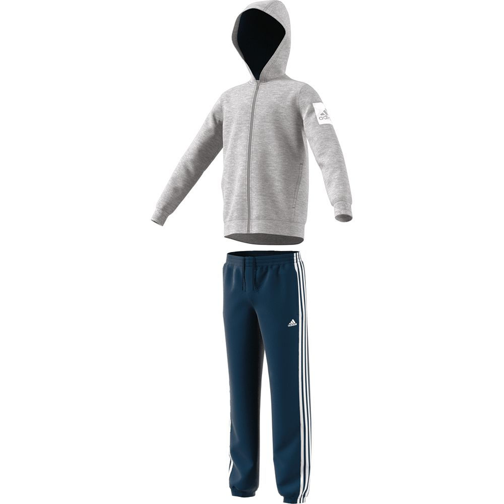 8da0b52b0126 adidas - Hojo Tracksuit Kids medium grey heather blue night white at ...
