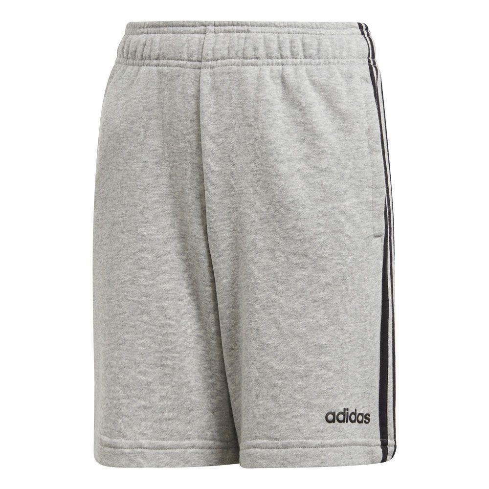 adidas 3 Stripes Knit T Shirt Jungen Hellgrau, Weiß
