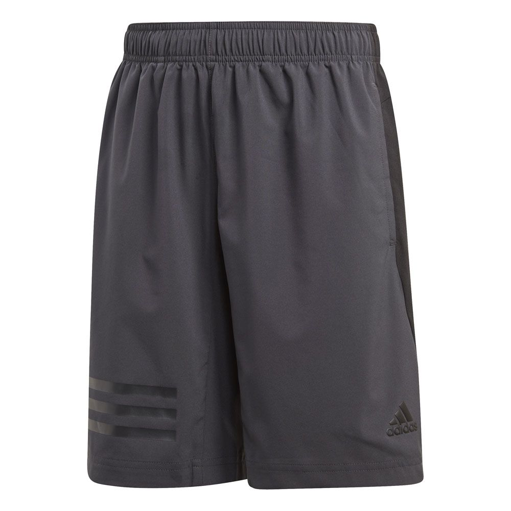adidas Training 3 Stripes Shorts boys carbon black at