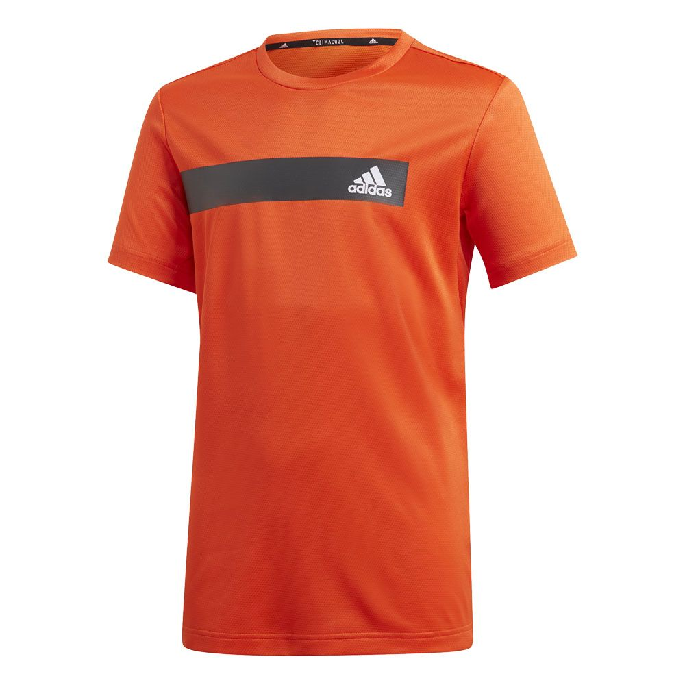 the latest 09f48 2e3d7 adidas - Train Cool T-Shirt Jungen active orange