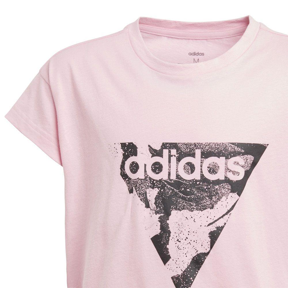 adidas Kids Girls Must Have Graphic T Shirt Junior Crew Neck Tee Top Short