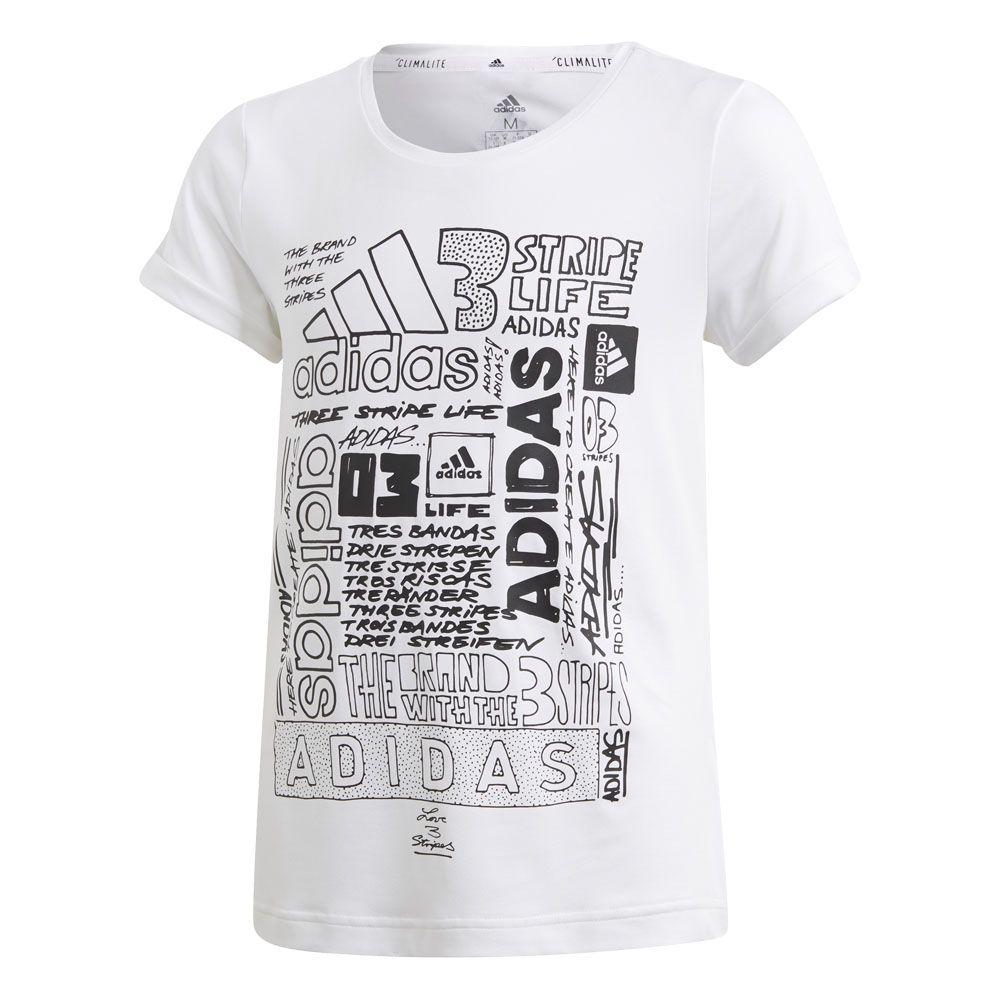 adidas Iconic T shirt Girls white black
