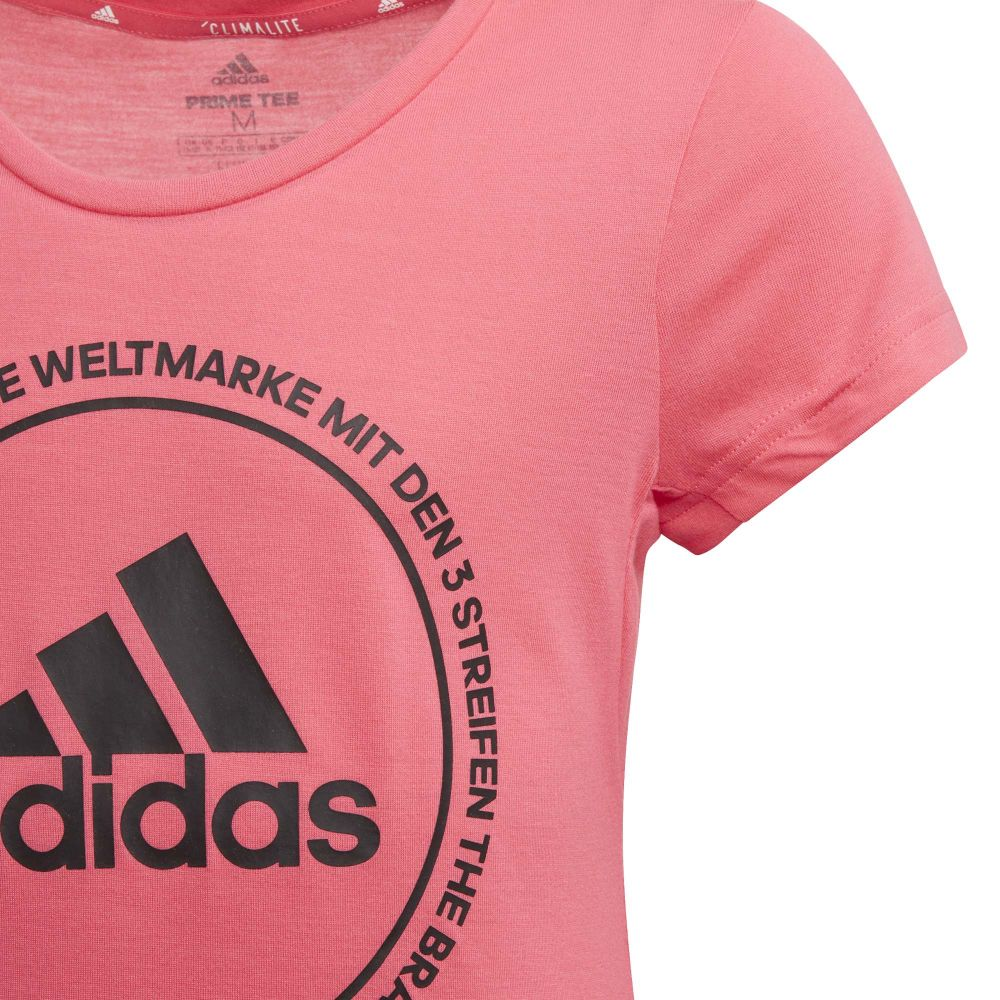 adidas Prime T Shirt Mädchen real pink black