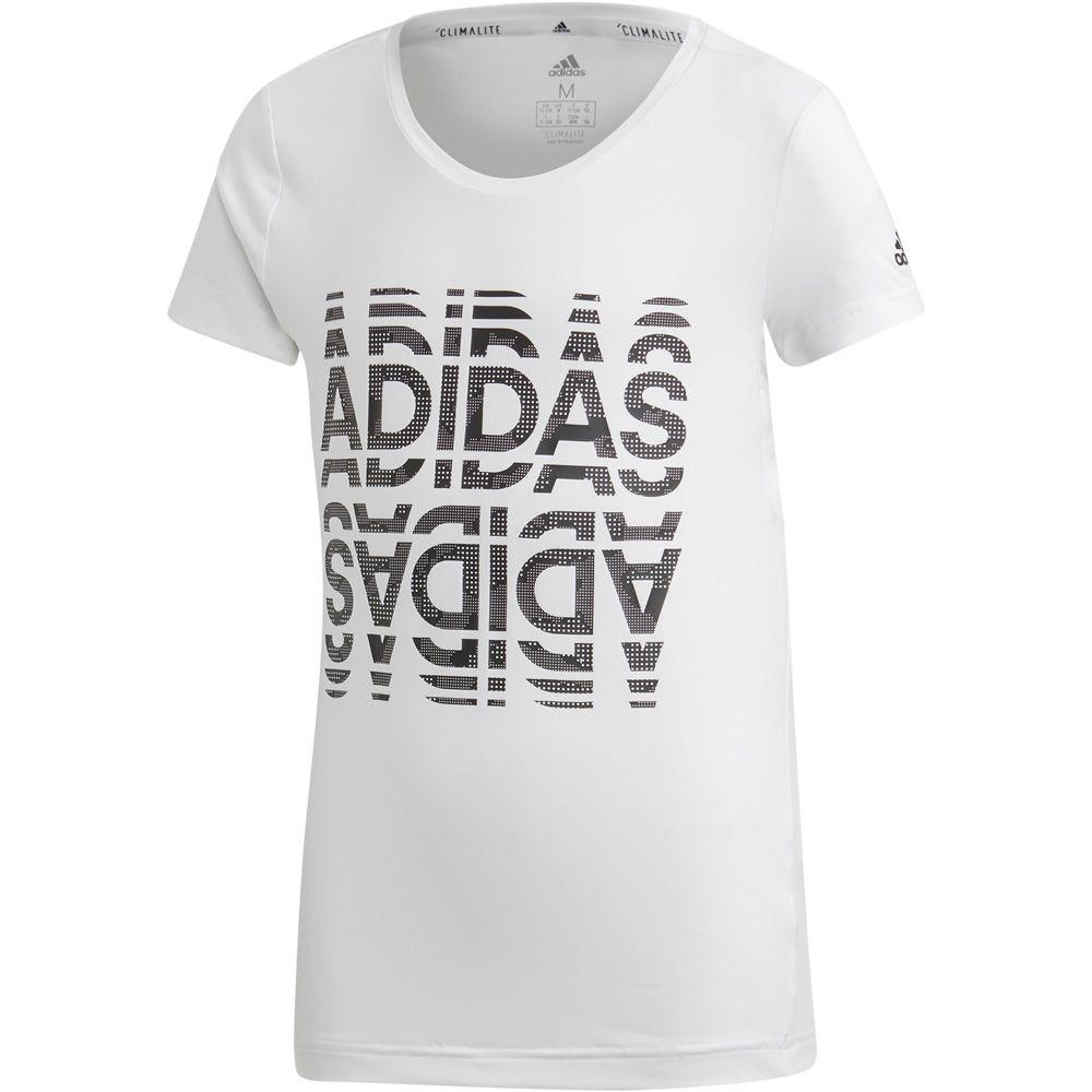 adidas Font T shirt Girls white black