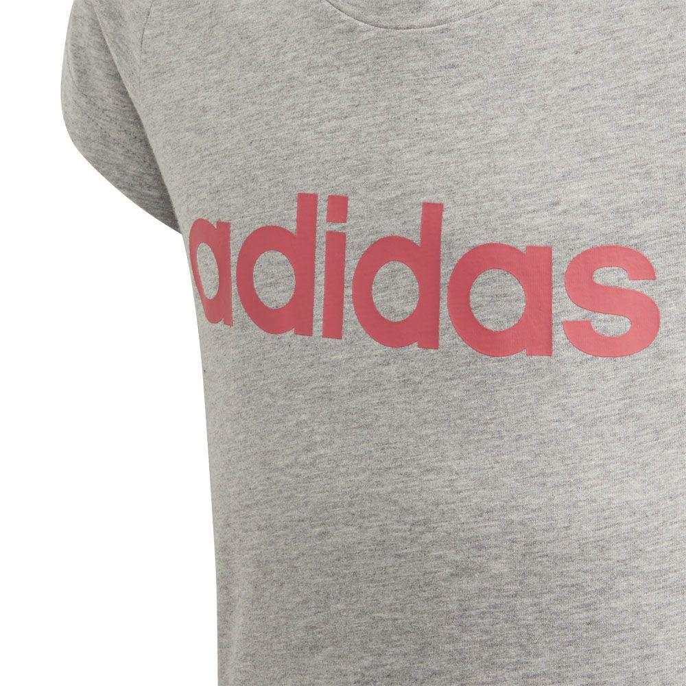 adidas Essentials Linear Hoodie G Kids grey at Sport Bittl