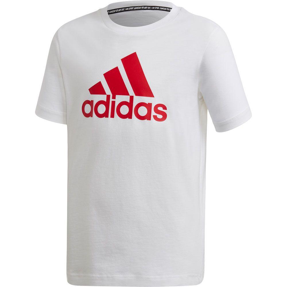 red and white adidas shirt
