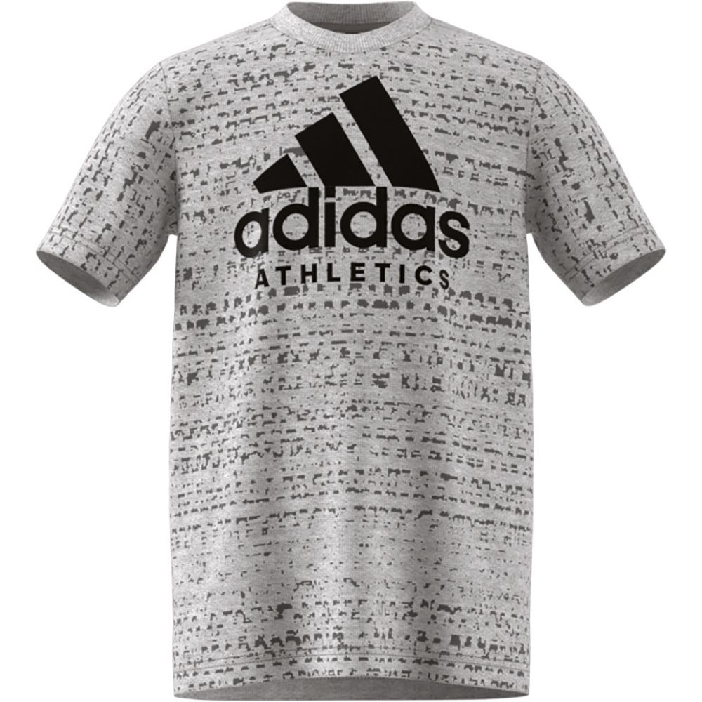 adidas Sport ID T Shirt Kinder medium grey heather black