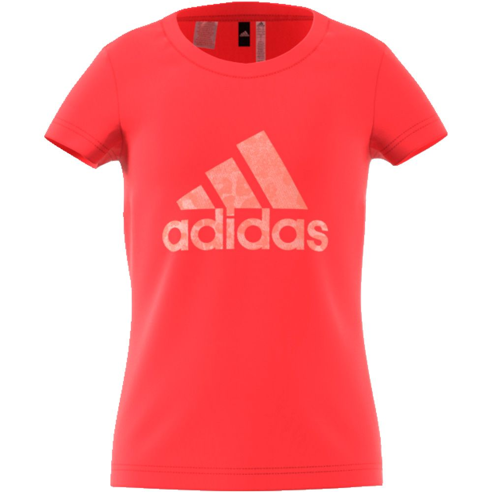 adidas Essentials Performance Logo T Shirt kids real coral
