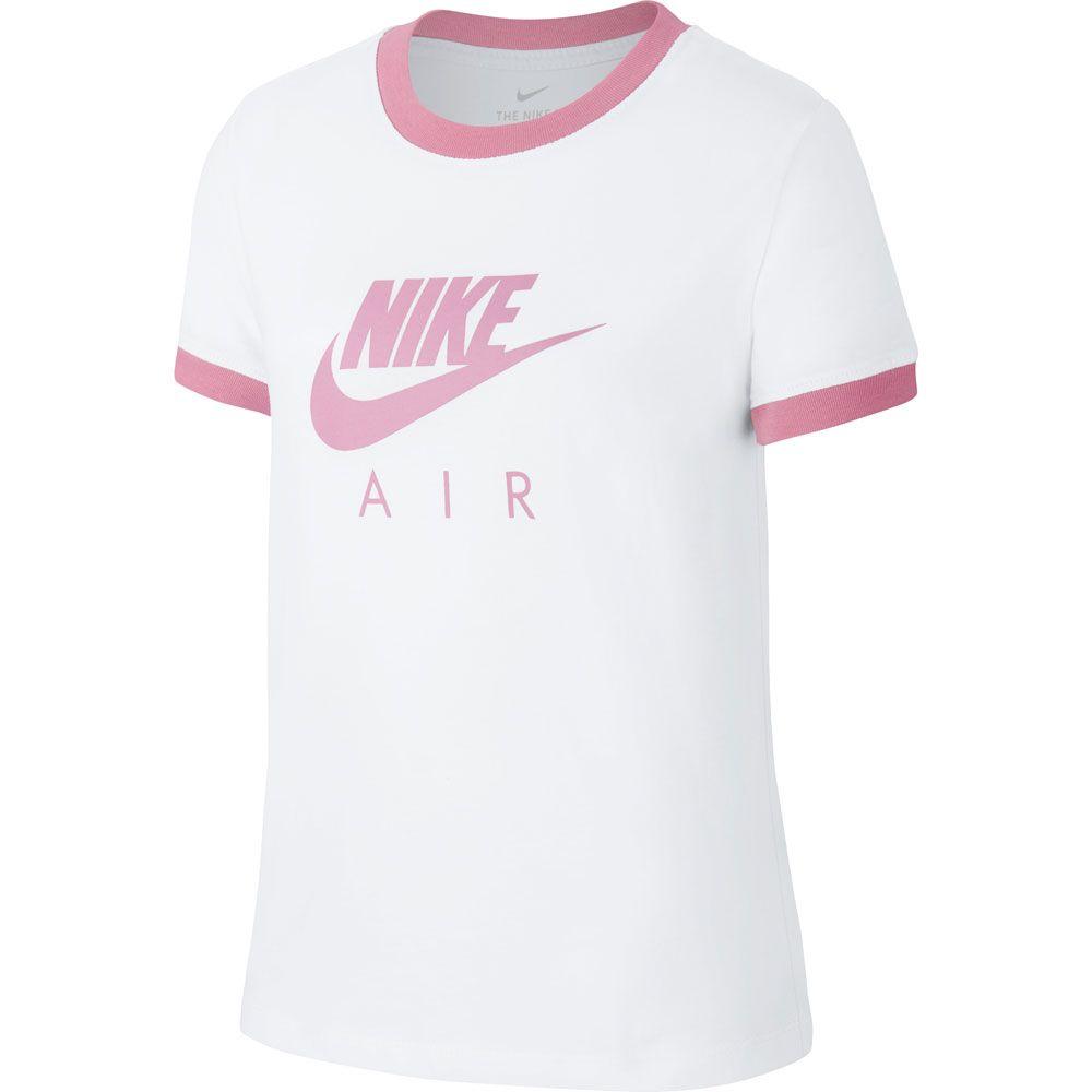monitor Inactividad Pasteles  Nike - Air Logo T-Shirt Kids white magic flamingo at Sport Bittl Shop