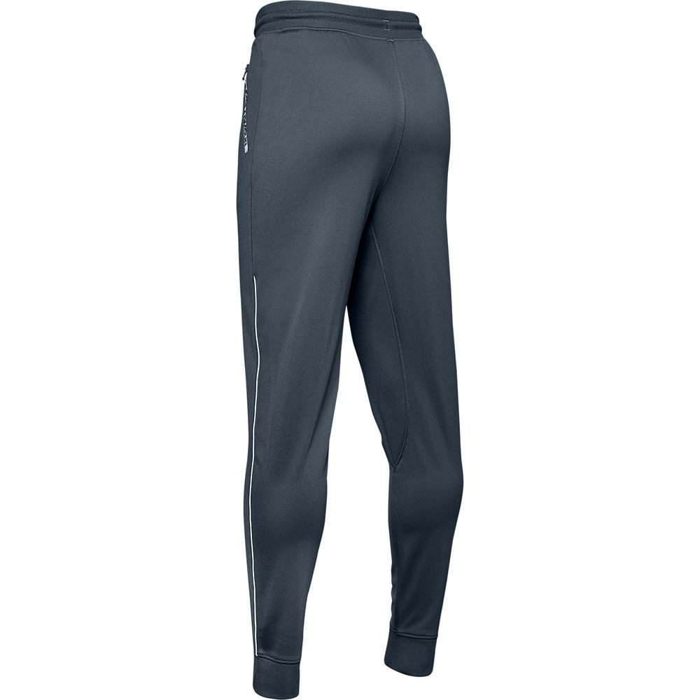 Under Armour Junior Boys Tech Training Pants in Black Zip Ribbed Waistband