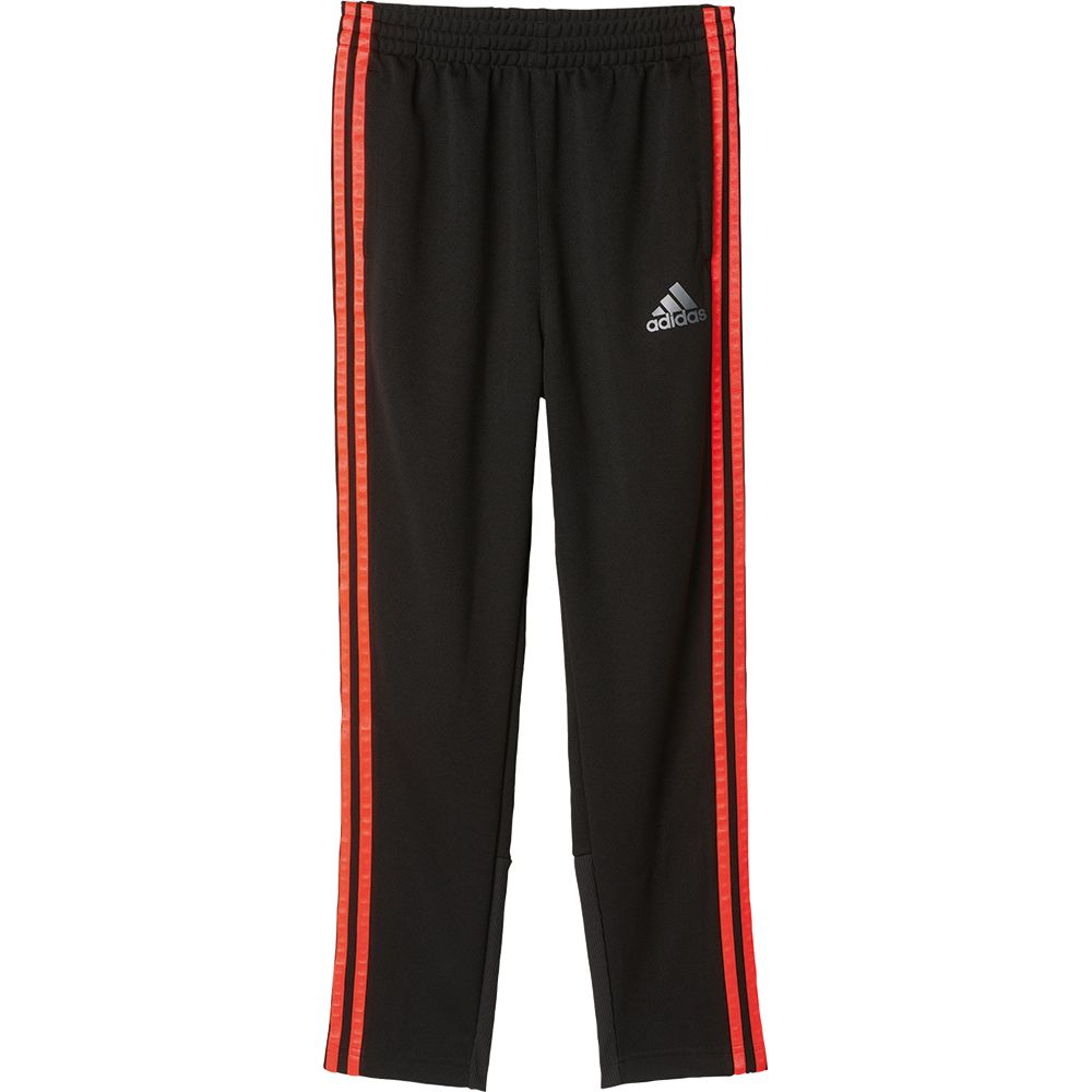 Black with red stripes adidas work out pants