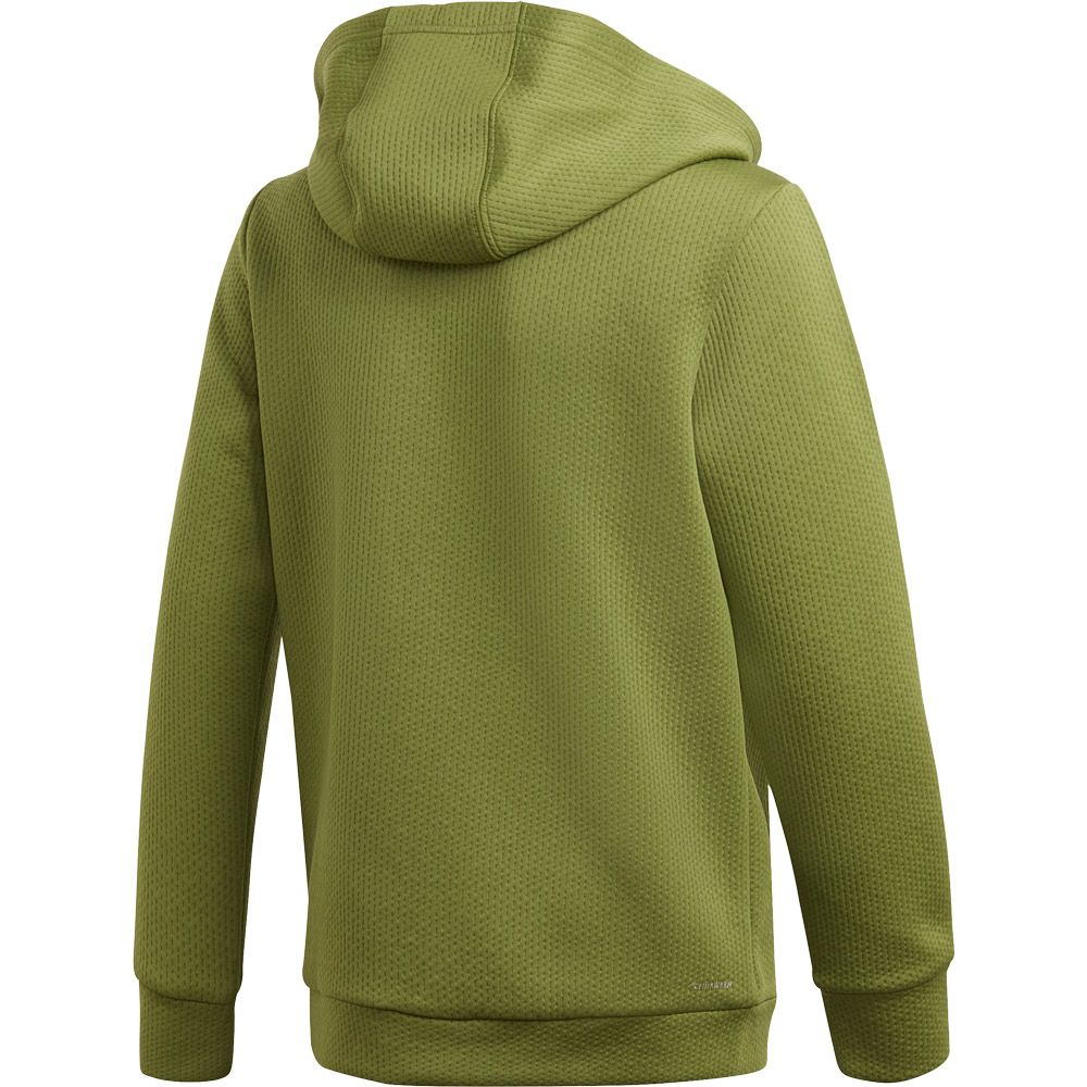 adidas Climawarm Hooded Jacket Boys tech olive white