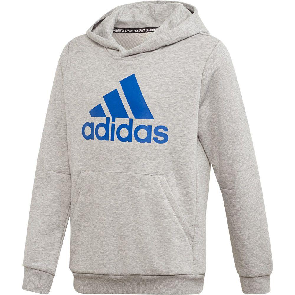 adidas Must Haves Badge of Sport Hoodie Jungen medium grey heather collegiate royal