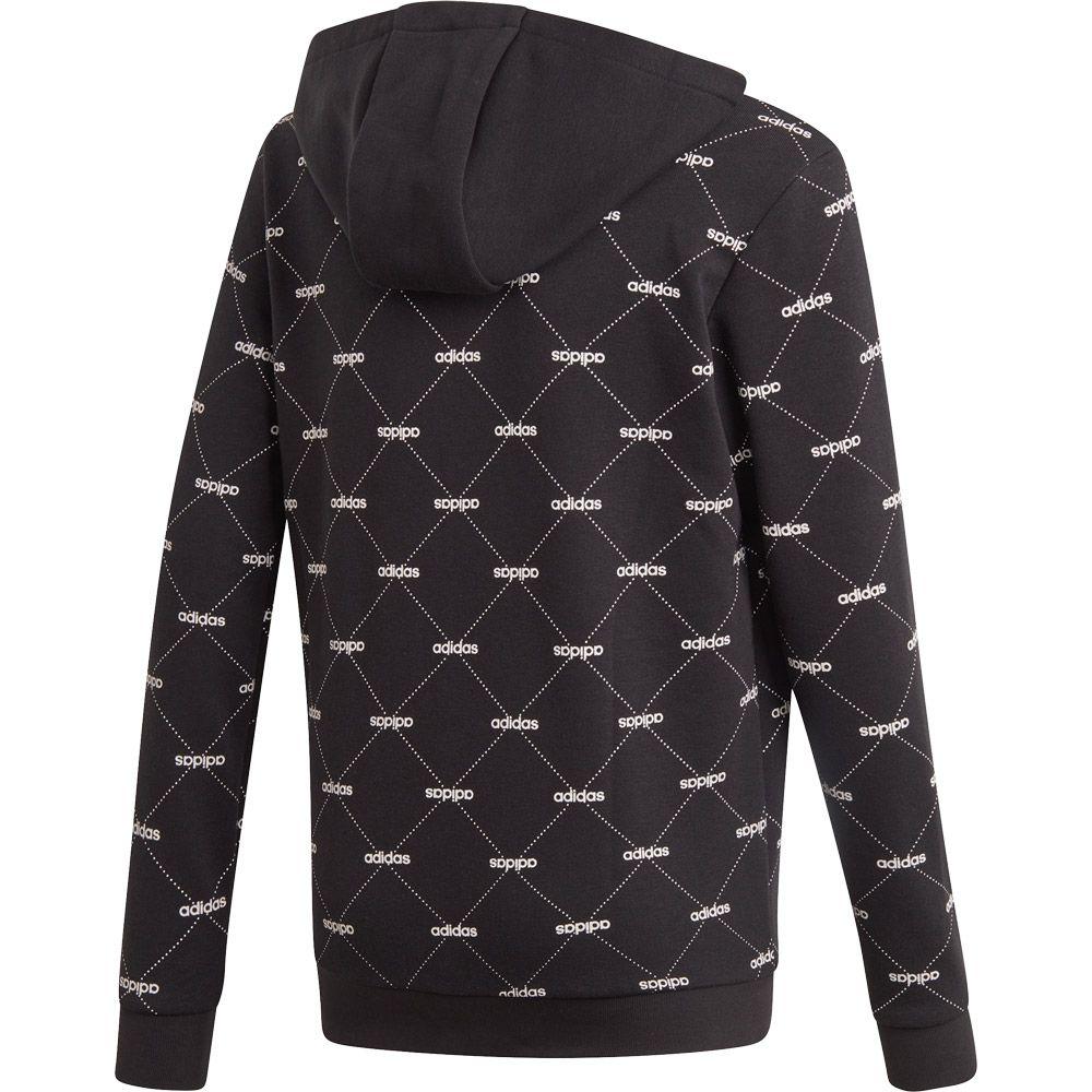 amazing price best service popular stores adidas - Cover-Up Kapuzenjacke Jungen schwarz weiß