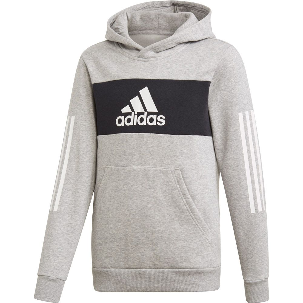 adidas Sport ID Pullover Boys medium grey heather black