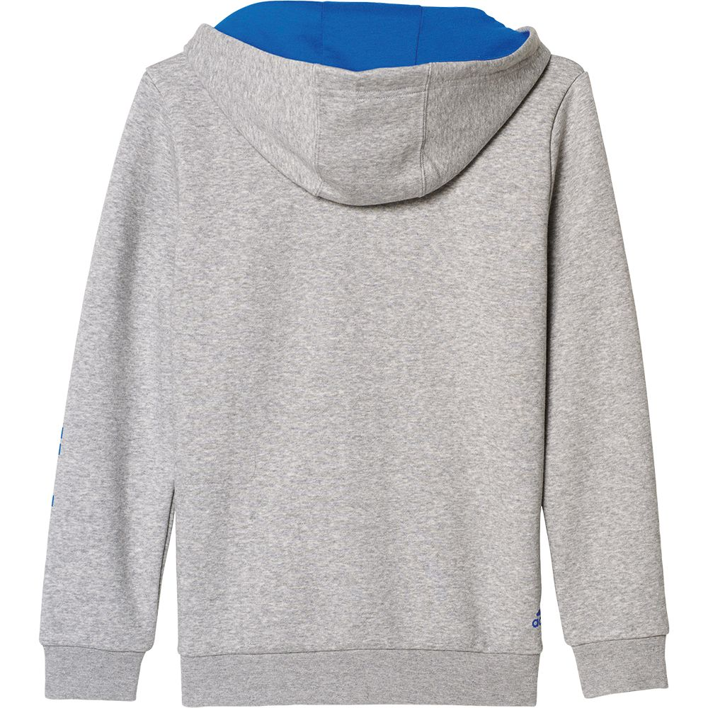 adidas Essentials Linear Full Zip Hoodie Kids medium grey