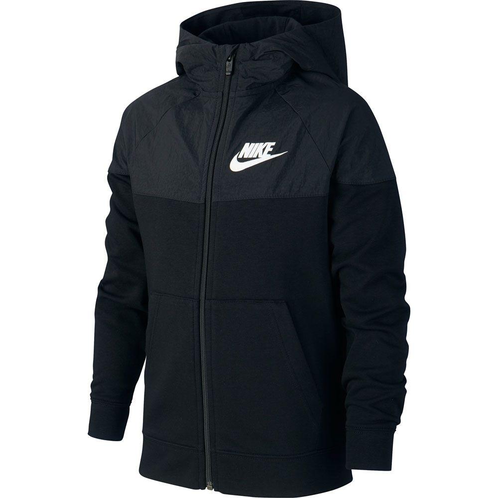 Nike Sportswear Kapuzenjacke Kinder schwarz weiß