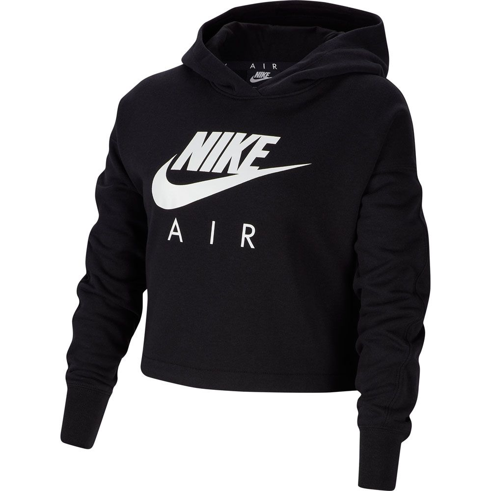 Nike Sportswear Air Kurz Hoodie Kinder schwarz weiß