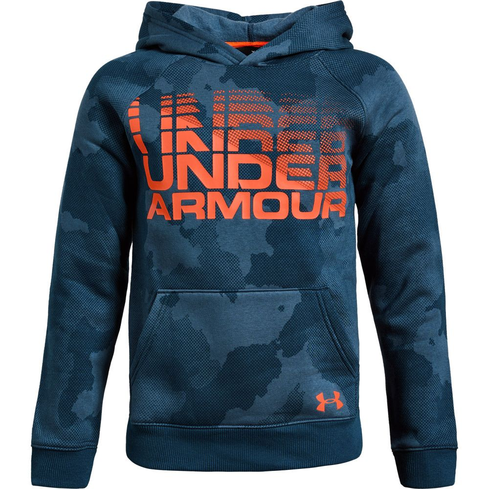 a02524774f3 Under Armour - Rival Wordmark Hoodie Boys techno teal at Sport Bittl ...