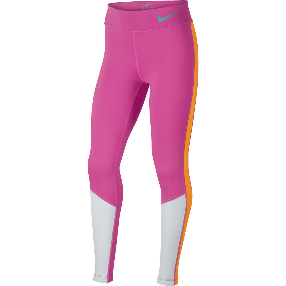 Trophy Nike pure Trainings Mädchen vivid pink cabana Tights platinum wZPOkiulXT
