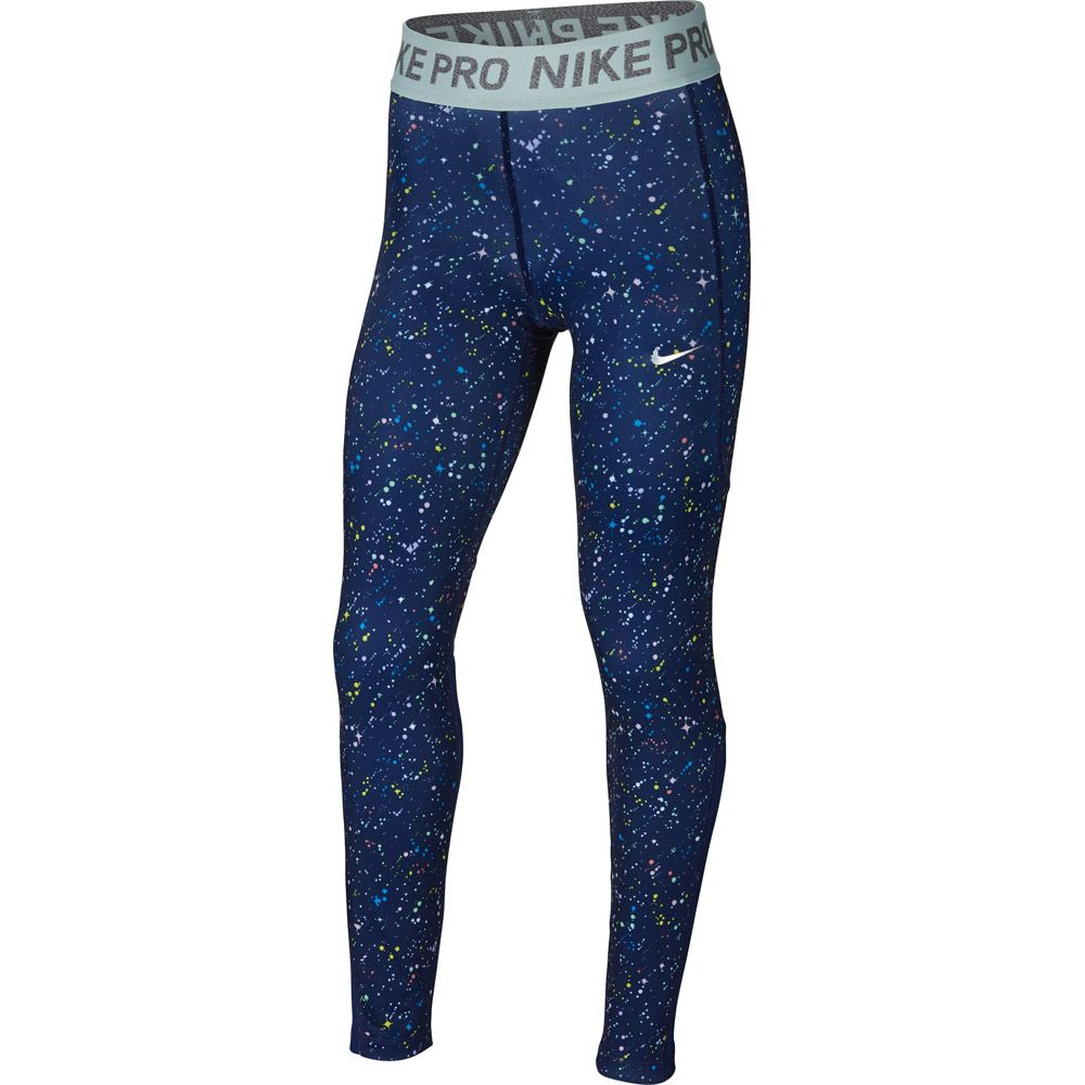 Nike - Pro Warm Tights Kids blue void