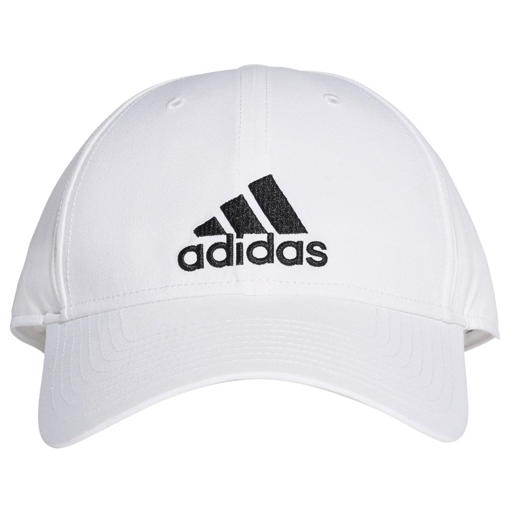 adidas - Classic Six-Panel Lightweight Cap Kids white black at Sport ... c21a029f104