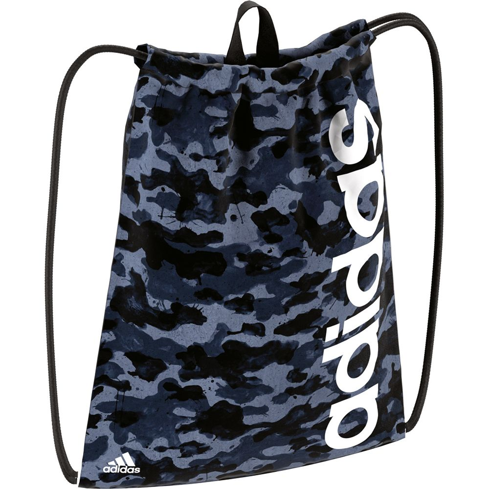 adidas Linear Performance Gymbag Graphic Kids tactile blue collegiate navy  white 6e5757dac0