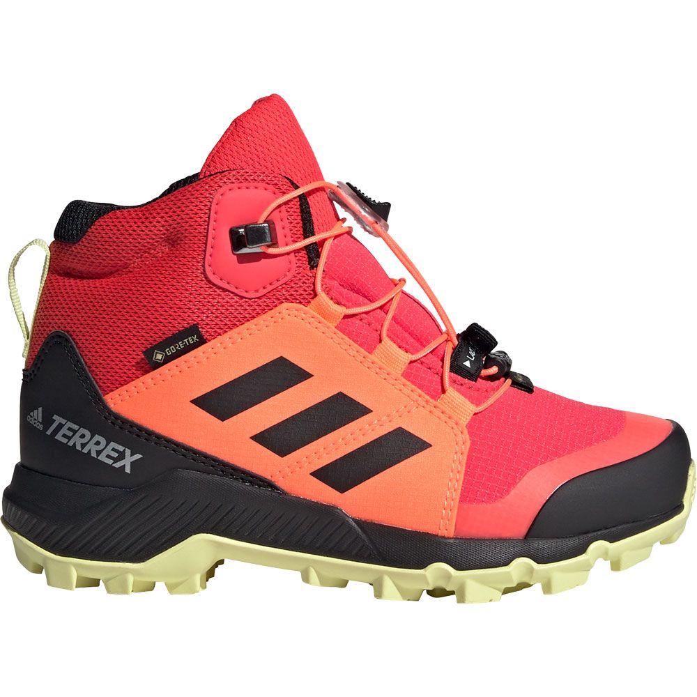 comuni Virus orologio  adidas - Terrex Mid GTX Hiking Shoes Kids shock red core black yellow tint  at Sport Bittl Shop