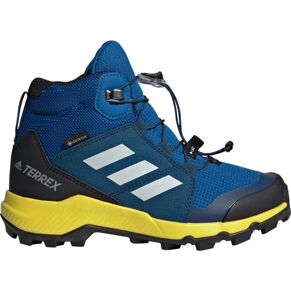 adidas Terrex Mid GTX® Kids blue beauty grey one shock yellow